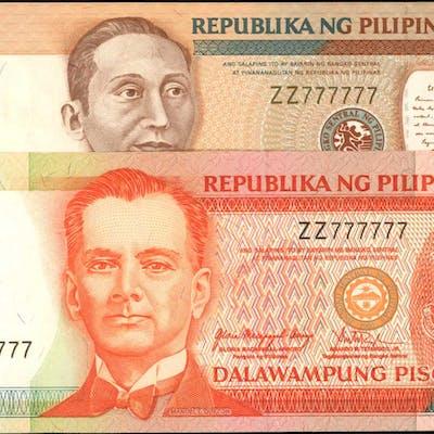 PHILIPPINES. Republika ng Pilipinas. 10 & 20 Piso, Mixed Dates. P-181b