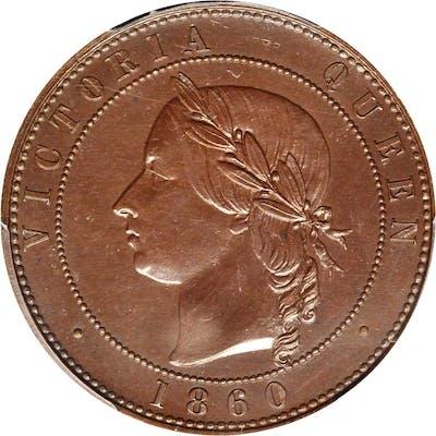 GREAT BRITAIN. Bronzed Copper Penny Pattern, 1860. London Mint. Victoria.