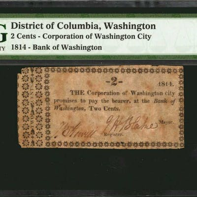 District of Colombia, Washington. Corporation of Washington City.