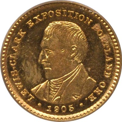 1905 Lewis and Clark Exposition Gold Dollar. MS-63 (PCGS). OGH.