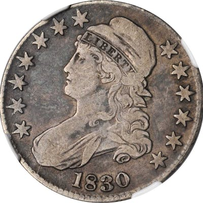 Lot of (2) Certified Capped Bust Half Dollars.