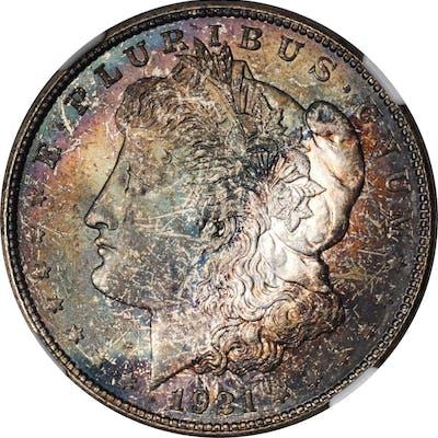 1921-D Morgan Silver Dollar. MS-67 (NGC).