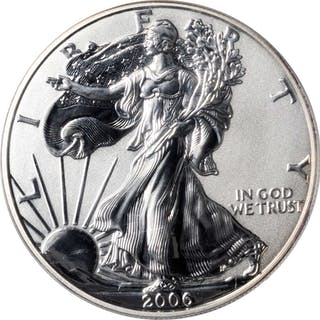 Complete 2006 Silver Eagle 20th Anniversary Set. (ANACS).