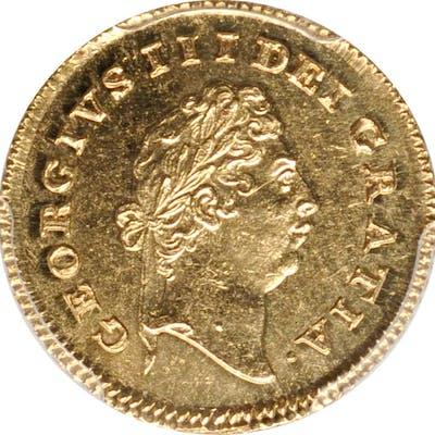 GREAT BRITAIN. 1/3 Guinea, 1797. London Mint. George III. PCGS Genuine--Cleaned