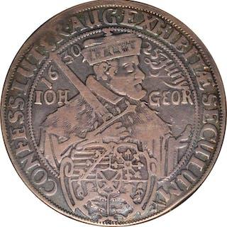 GERMANY. Saxony. Taler, 1630. Dresden Mint. Johann Georg II. NGC VF-25.