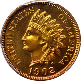 1902 Indian Cent. Snow-PR4. Repunched Date. Proof-67 RD Cameo (PCGS). CAC.