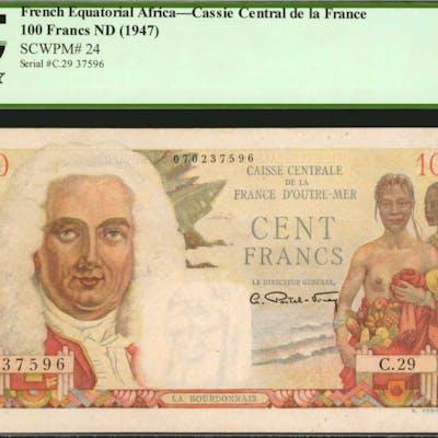 FRENCH EQUATORIAL AFRICA. Caisse Central de la France. 100 Francs