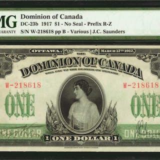 CANADA. Dominion of Canada. 1 Dollar, 1917. DC-23b. PMG Extremely Fine 40 EPQ.