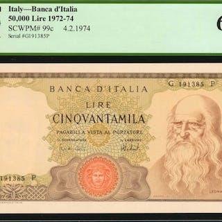ITALY. Banca d'Italia. 50,000 Lire, 1972-74. P-99c. PCGS Currency