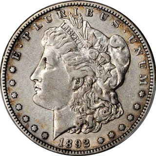 1892-S Morgan Silver Dollar. EF-40 (PCGS).
