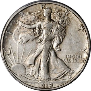 1918-S Walking Liberty Half Dollar. AU-50 (PCGS).