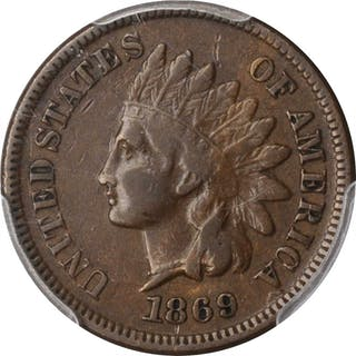 1869 Indian Cent. VF-20 (PCGS).