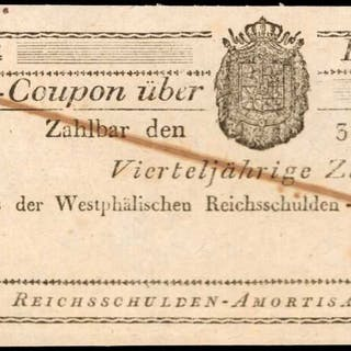 GERMAN STATES. Westphalian Imperial Debt Amortizations Treasury. Without