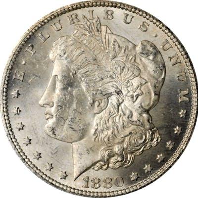 1880-CC GSA Morgan Silver Dollar. Mint State (Uncertified).