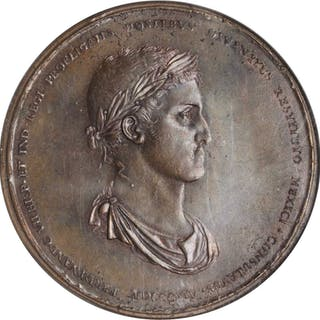 MEXICO. Restoration of the Consulate Bronze Medal, 1814. Ferdinand