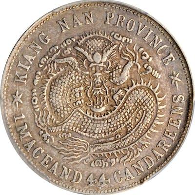 CHINA. Kiangnan. 1 Mace 4.4 Candareens (20 Cents), CD (1899). PCGS