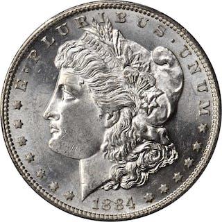 1884-S Morgan Silver Dollar. MS-61 (PCGS).