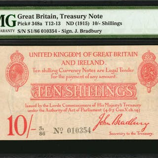 GREAT BRITAIN. Lords Commissioners of His Majesty's Treasury. 10 Shillings