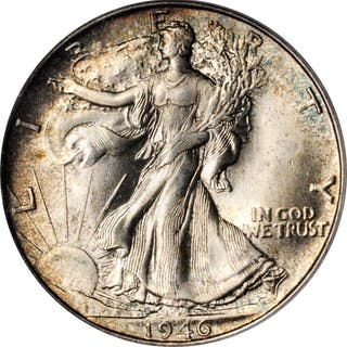 1946-S Walking Liberty Half Dollar. MS-66 (PCGS).