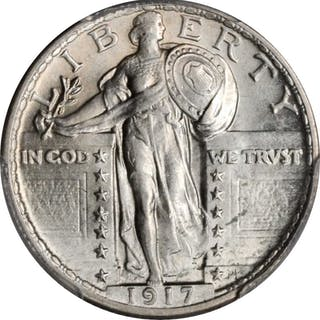1917 Standing Liberty Quarter. Type II. MS-63 (PCGS).