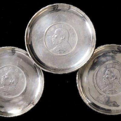 CHINA. Silver Dish (3 Pieces).