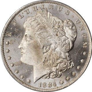 1884-O Morgan Silver Dollar. MS-64 PL (PCGS).