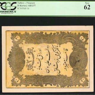 TURKEY. Treasury. 20 Kurush, ND. P-36. PCGS Currency New 62.