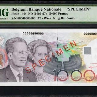 BELGIUM. Banque Nationale de Belgique. 10,000 Francs, ND (1992-97).