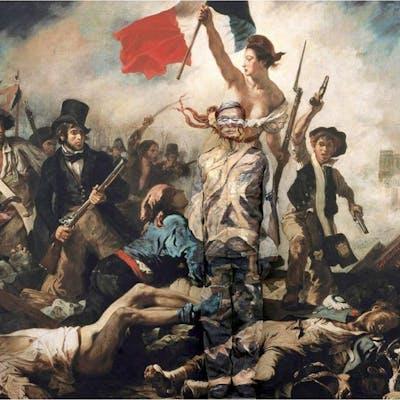 Liberty, Leading the people - Liu Bolin