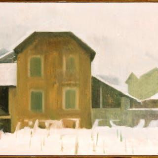Gérard de Palezieux (1919-2012), Maison Constantin, huile sur toile