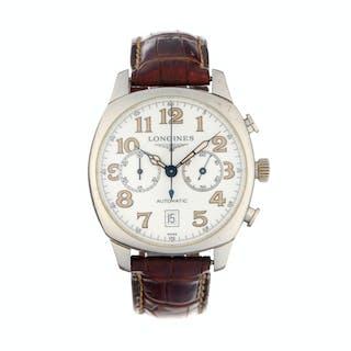 Longines, Spirit, montre chronographe acier