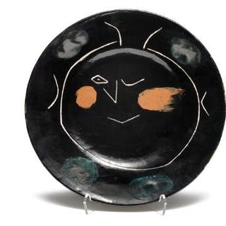 """Pablo Picasso: """"Service visage noir - Asiette K"""""""