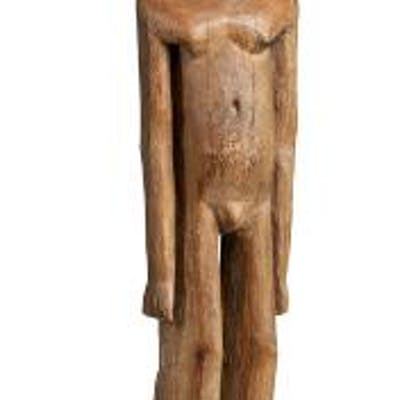 An ancestor figure of carved patinated wood. Lobi, Burkina Faso. H. 86 cm.