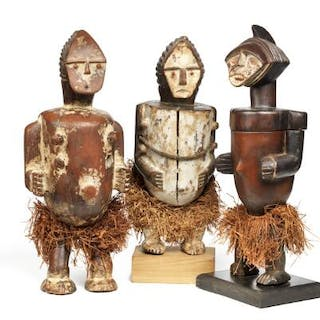 Three containers in the shape of ancestor figures of...