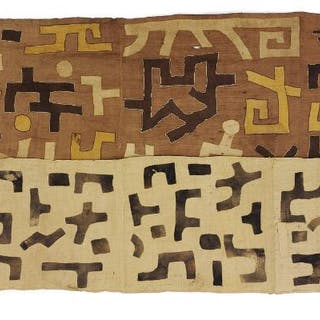 Two weavings. Kuba, D.R. Congo. 180×54 and 270×68 cm. (2)