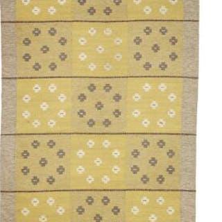 "Swedish design: Handwoven ""rölakan"" carpet of wool with..."