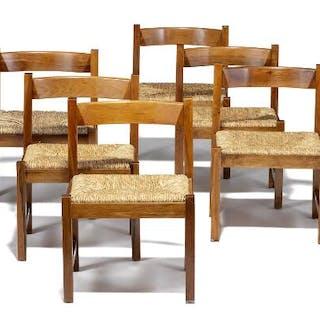 Giovanni Michelucci: A walnut dining room suite...