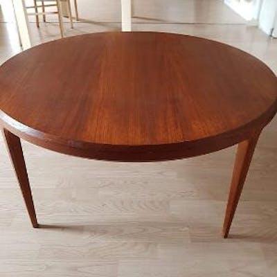 Danish Furniture Design A Circular Teak Coffee Table On