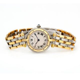 Cartier: A ladies' wristwatch of gold and steel