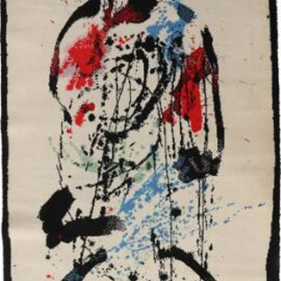 Robert Jacobsen: Carpet with Robert Jacobsen motif. 200×142 cm.