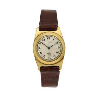 Harwood: A gentleman's wristwatch of gold plated metal