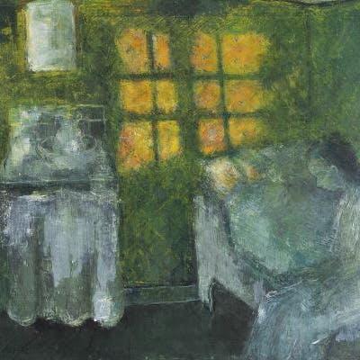 Kay Christensen Interior With Girl Barnebys