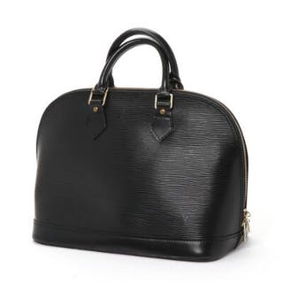 """fed1cab71f41 Louis Vuitton  An """"Alma"""" handbag of black epi leather with two handles –  Current sales – Barnebys.co.uk"""