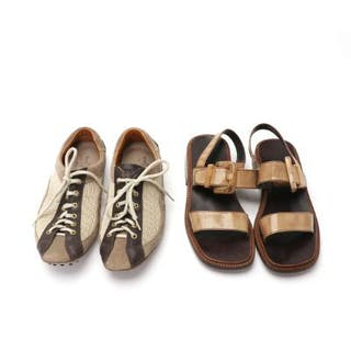 dca0a275517 Prada  A collection of a pair of shoes and a pair of sandals. Size 38. (4)