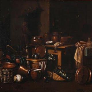 Giovanni Domenico Valentino: A kitchen interior