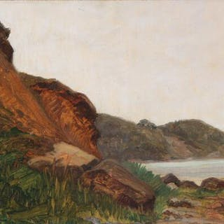 Hjalmar Matthiessen: View of a rocky coast