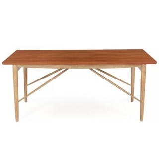 Finn Juhl: Rare coffee table with teak top