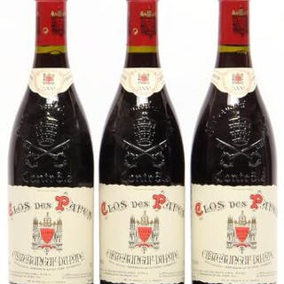 3 bts. Chateauneuf-du-Pape, Clos des Papes, Paul Avril 2000 A (hf/in).