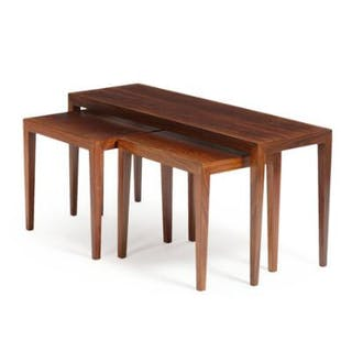 Severin Hansen Jr.: Three rosewood nesting tables