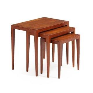 Severin Hansen Jr.: Three teak nesting tables